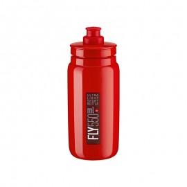 Bidon Elite Fly rojo logo rojo burdeos 550 ml