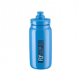 Bidon Elite Fly azul logo azul 550 ml