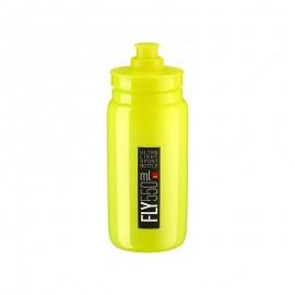 Bidon Elite Fly amarillo fluor logo negro 550 ml