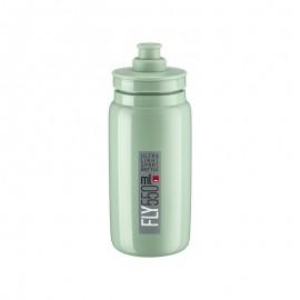 Bidon Elite Fly verde turquesa logo gris 550 ml