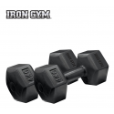 Pesas Iron Gym 4kg x 2 Fixed Hex Dumbbell
