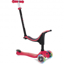 Patinete Globber GO UP 4 en 1 Lights rojo