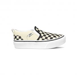 Zapatillas Vans MY Asher Platform blanco/negro cuadros niña