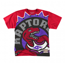 Camiseta Mitchell&Ness Big Face Raptors rojo hombre