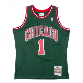 Camiseta NBA Mitchell&Ness Bulls D.Rose verde hombre