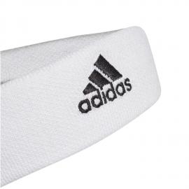 Cinta tenis de pelo Adidas blanca