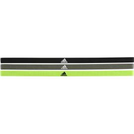 Cinta fina de Adidas Pack de 3 verde/gris/negro