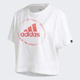 Camiseta adidas Circled Tee blanco/coral mujer