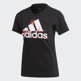 Camiseta adidas Floral Tee negro/blanco mujer