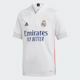 Camiseta fútbol adidas Real Madrid 2020/21 blanco junior
