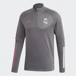Sudadera adidas Real Madrid Training 2020/21 gris hombre