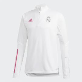 Sudadera adidas Real Madrid Training 2020/21 blanco hombre