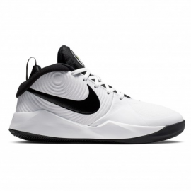 Zapatillas baloncesto Nike Team Hustle D9 blanco/negro jr