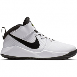 Zapatillas baloncesto Nike Team Hustle D 9 blanco/negro niño