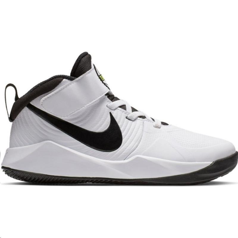 Superficial población Desviar  Zapatillas baloncesto Nike Team Hustle D 9 blanco/negro niño - Deportes Moya
