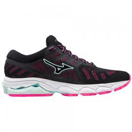 Zapatillas running Mizuno Wave Ultima 11 negro/rosa mujer