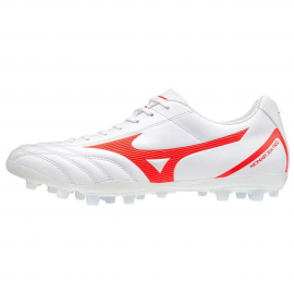 Zapatillas fútbol Mizuno Monarcida Neo Select AG blanco/cora