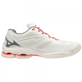 Zapatillas indoor Mizuno Wave Lightning Z6 blanco/coral muje